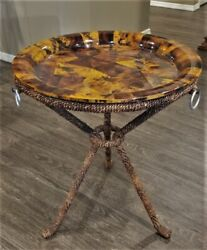 Vtg John Richard Neiman Marcus Horchow Rare Penshell And Rope Side Accent Table