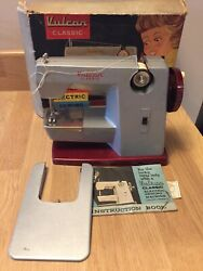 Vintage Vulcan Classic Childs Electric Sewing Machine Boxed With Instructions