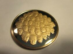 Franklin Mint Bicentennial Medal By Gilroy Roberts - 30 Famous Americans