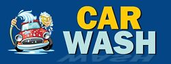 3ft X 8ft Car Wash Vinyl Banner- New-free Shipping