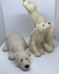 Second Nature Design Quarry Critters Papa Bear Peter And Polly Figurines