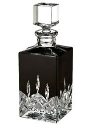 Waterford Lismore Black Square Crystal Decanter 40026287 New In Box