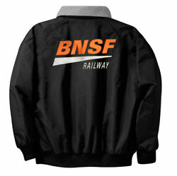 Bnsf Modern Logo 750-b Embroidered Jacket Front And Back By Jelsma Graphics