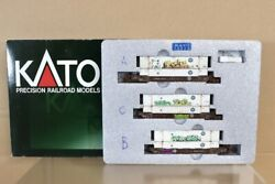 Kato 106-6111 N Weathered Bnsf Gunderson Maxi-iv Double Stack Container Car 3512