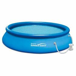 Summer Waves 15ft X 36in Quick Set Inflatable Above Ground Swimming Pool With Fi
