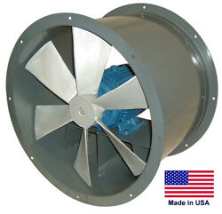 Tube Axial Duct Fan - Direct Drive - 24 - 1/2 Hp - 230/460v - 3 Phase - 6510