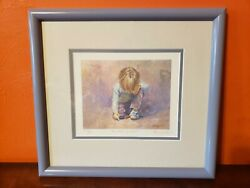 Lucelle Raad Budding Artist Pencil Signed Numbered Print Lithograph 687/950