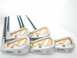 Honma Golf Beres Is-02 3 Stars Color Gold Hardness R Armrq 6 Set Of 5 5 - 10