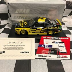 Brad Keselowski 2 Alliance Truck Parts 2019 Mustang Autographed 22 Of 48