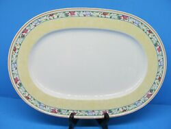 Villeroy And Boch Virginia 16 Oval Serving Platter Discontinued Pattern