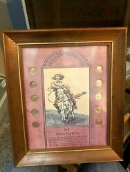 The Pony Express Framed And Mounted 10 Mercury Dime Coin Collection 10x12