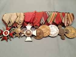 Group Of Medals Kolodka Of A Bulgarian Senior Officer Participating In Wars