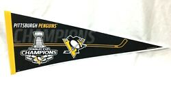 Nhl 2017 Stanley Cup Champions Pittsburgh Penguins Pennant Trophy R Freeship