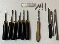 Mixed Lot Of Vintage Wood Working /carving Tools / Chisels - Brookstone+