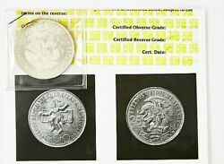 1968 Mexico Silver 25 Peso Olympic Coin With Ani Photo Card