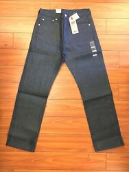 Leviand039s Menand039s 501 Jeans Nwt Shrink To Fit Metallic Fibre Button Fly Blue Red Tab