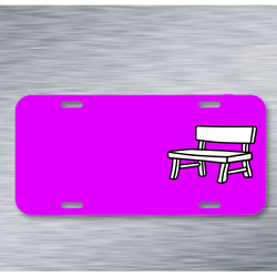 Bank Bench Furniture Garden Park On License Plate Car Front Add Names