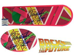 Michael J Fox Cristopher Lloyd Autographed Hoverboard Back To The Future Beckett