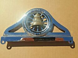 Aaa License Plate Topper - 1930s Design - Chrome With Good Roads Bell