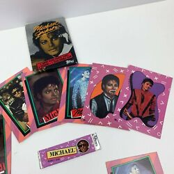 Vintage Topps Michael Jackson Cards And Stickers Lot