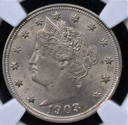 1903 Liberty Nickel Ngc Ms 62 Looks Better But Some Light Spotting Holds It Back