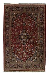 Hand Woven Vintage Oriental Area Rug Traditional Red Wool Rug -144x242cm