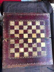 Antique Chess/backgammon And Playing Cards Sets And Folding Board, C1860/80