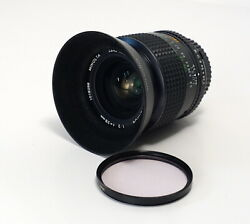 Minolta 28mm F/2.0 Manual Focus Md Lens For X-700 Xd-11. With Hood And Caps Mint