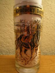 1968 Kentucky Derby Glass Black And Gold Designed See Descrip
