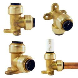 1/2 In. Brass Push-to-connect 90-degree Drop Ear Elbow