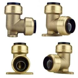 3/4 In. Brass Push-to-connect 90-degree Drop Ear Elbow