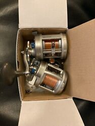 2 Rare Used Quantum Cabo Clw 20 Reels Missing 1 Crank Arm All Freshwater Use