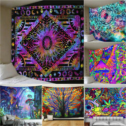Psychedelic Bohemian Indian Mandala Tapestry Wall Hanging Throw Bedspread Mats