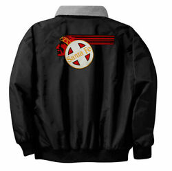 Santa Fe Cheif Logo 302 Embroidered On Front And Back Jacket By Jelsma Graphics