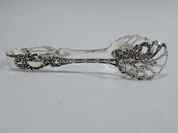 Wallace Lucerne Ice Tongs - Antique Barware - American Sterling Silver