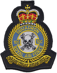 No. 100 Squadron Royal Air Force Raf Crest Mod Embroidered Patch