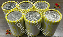 6 Rolls Of Half Dollars - Unsearched - Fed Sealed- Possible 40 90 Silver Coins