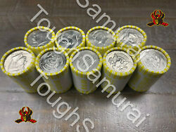 9 Rolls Of Half Dollar Coins, Unsearched,fed Sealed,possible Silver, 90 Fv Coin