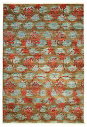 Modern Hand-knotted Carpet 4and0392 X 5and03910 Oriental Wool Area Rug