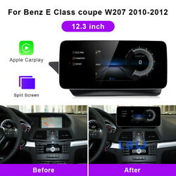 12.3 Android Car Gps Navi Video Player Wifi For Benz E Class Coupe W207 2010+