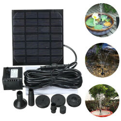7v 1.5w Solar Power Fountain Submersible Water Pump Panel Pond Pool 200l/h U6w3
