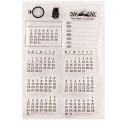 Kalender / Bullet Journal - Clearstamp / Stempel - Myfuntime Collection