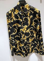 Versace Barocco Silk Shirt In All Sizes