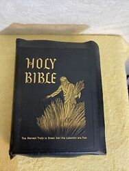 Holy Bible 1955 Spiritual Harvest Edition In Box Gold Index