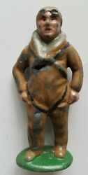 Metal Cast Co. 23a Rare Toy Lead Soldier Pilot With Bomb Barclay Manoil