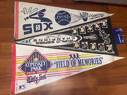 Vintage Chicago White Sox Pennant Lot Of 10