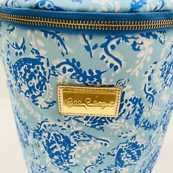 Lilly Pulitzer Turtley Beach Cooler Blue amp; white Insulated Cooler with Strap NEW $31.50