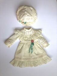 AMERICAN GIRL Samantha#x27;s LAWN PARTY OUTFIT Dress and Eyelet Hat Ships Worldwide $85.00