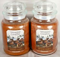 NEW YANKEE CANDLE PECAN PIE BITES LARGE JAR 22 OZ. CANDLE LOT OF 2
