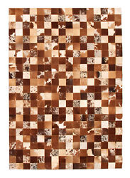 Handmade Cowhide Rug 5and0393 X 7and0395 Genuine Cow Skin Leather Carpet